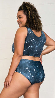 Starry Night High Waist Bottom - Reversible