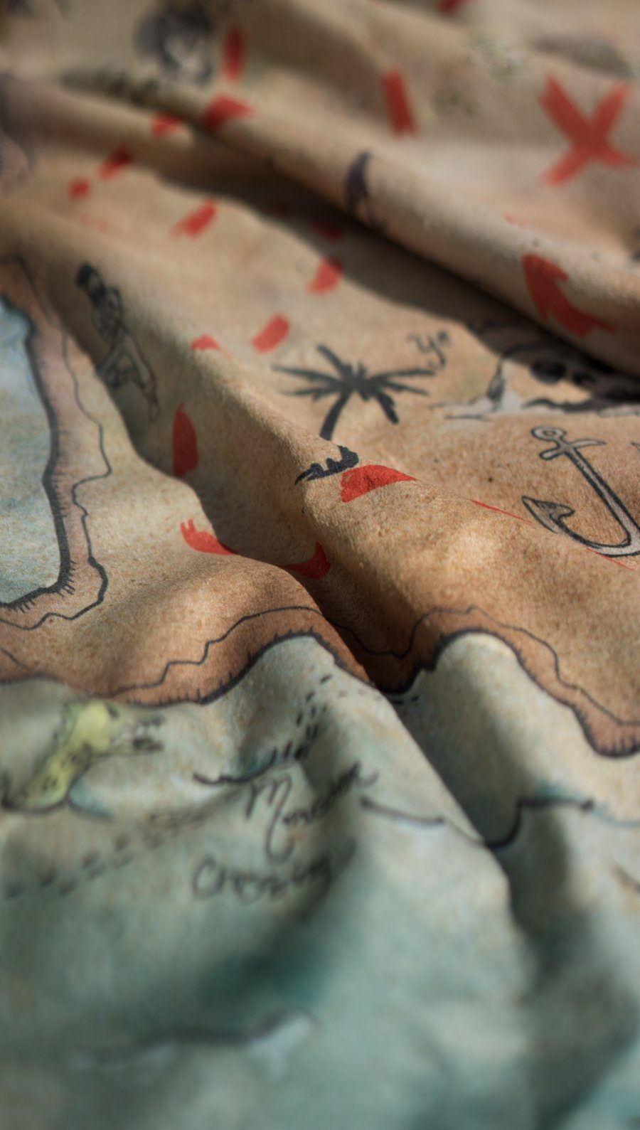 Treasure Map Beach Towel