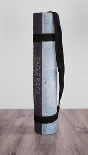 view of rolled up moon cycle themed yoga mat