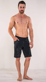 "Men's - Black Palms Shorts 10.5"" Inseam"