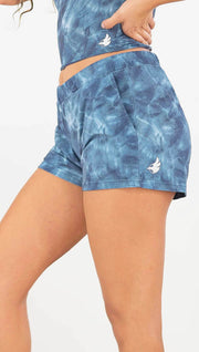 Indigo Waves Comfy Lounge Shorts