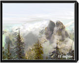 El Capitan Rises from the Clouds