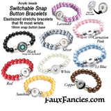 Snap Button Bracelets; snap buttons