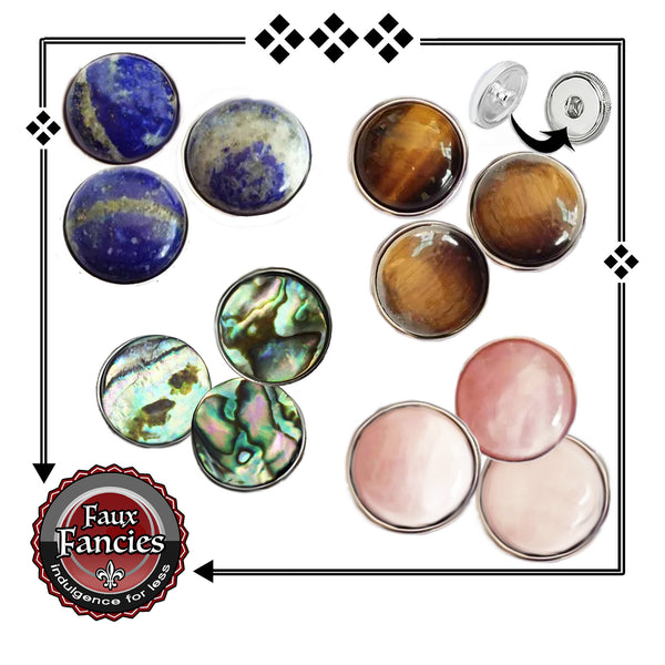 Gemstones or Shell Snap Buttons