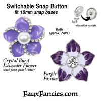 Purple Snap Buttons