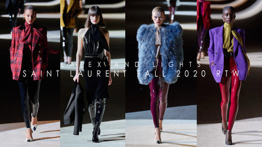 Latex and Lights at YSL Fall 2020 RTW