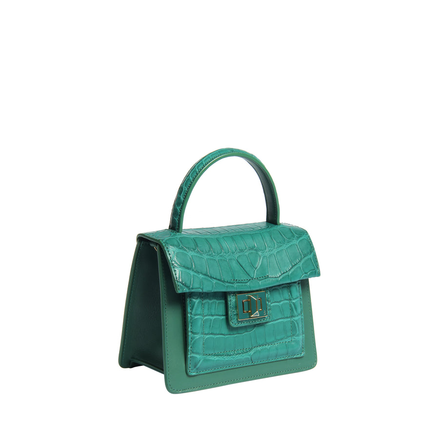 Krenoir Alligator Mini Kandie in Seafoam