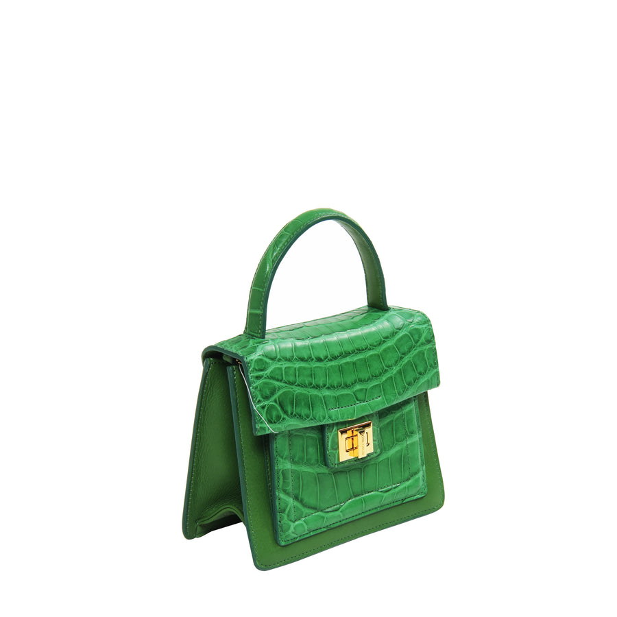 Krenoir Alligator Mini Kandie in Emerald