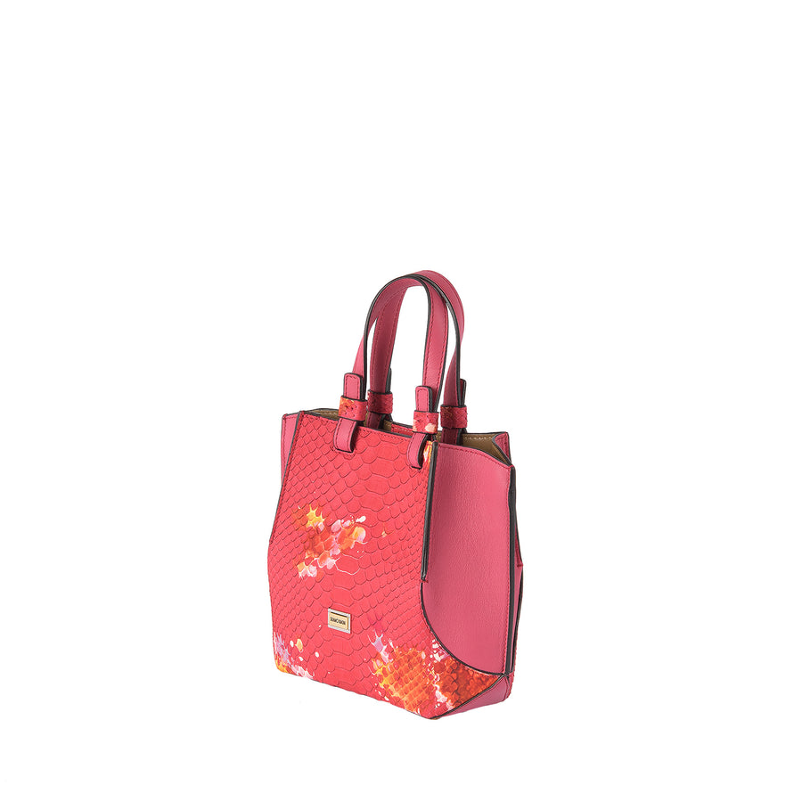 SB Python Small Origami Bag in Coral Splash