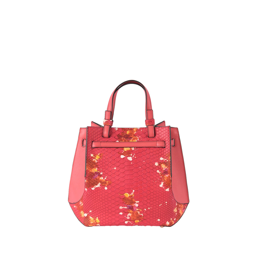 SB Python Origami Bag in Coral Splash