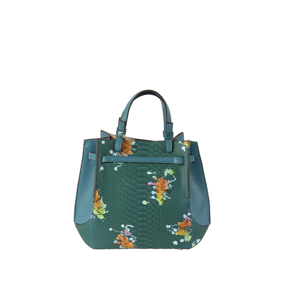 SB Python Origami Bag in Emerald Splash