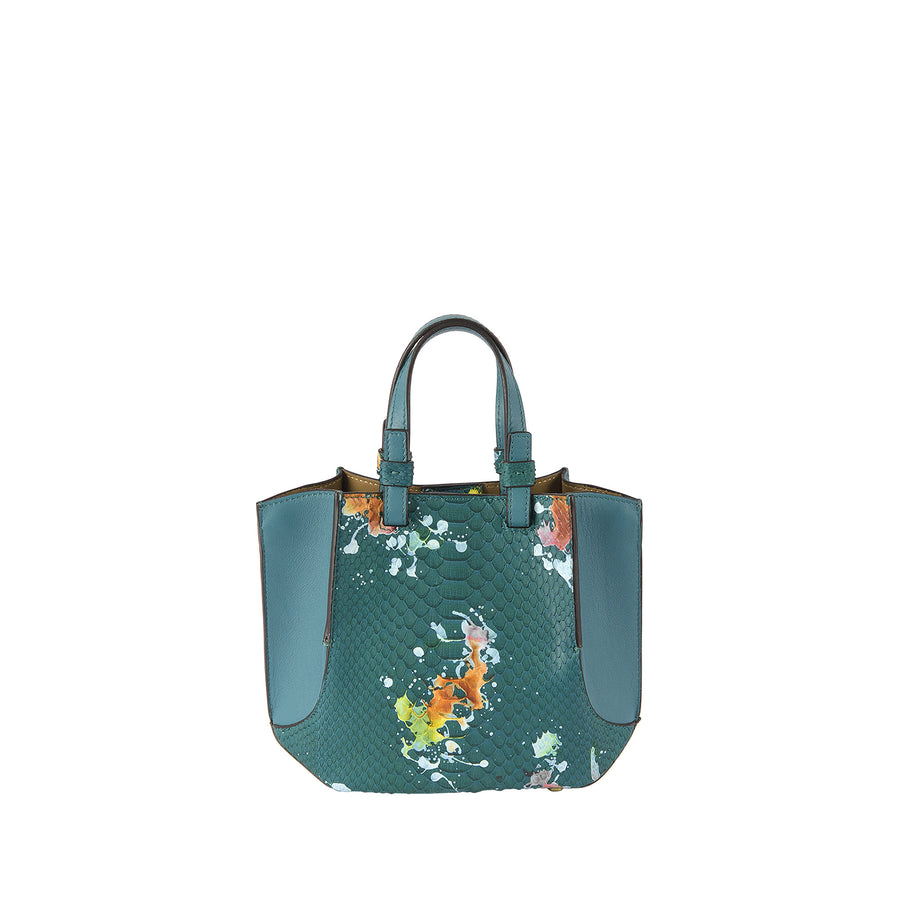 SB Python Small Origami Bag in Emerald Splash