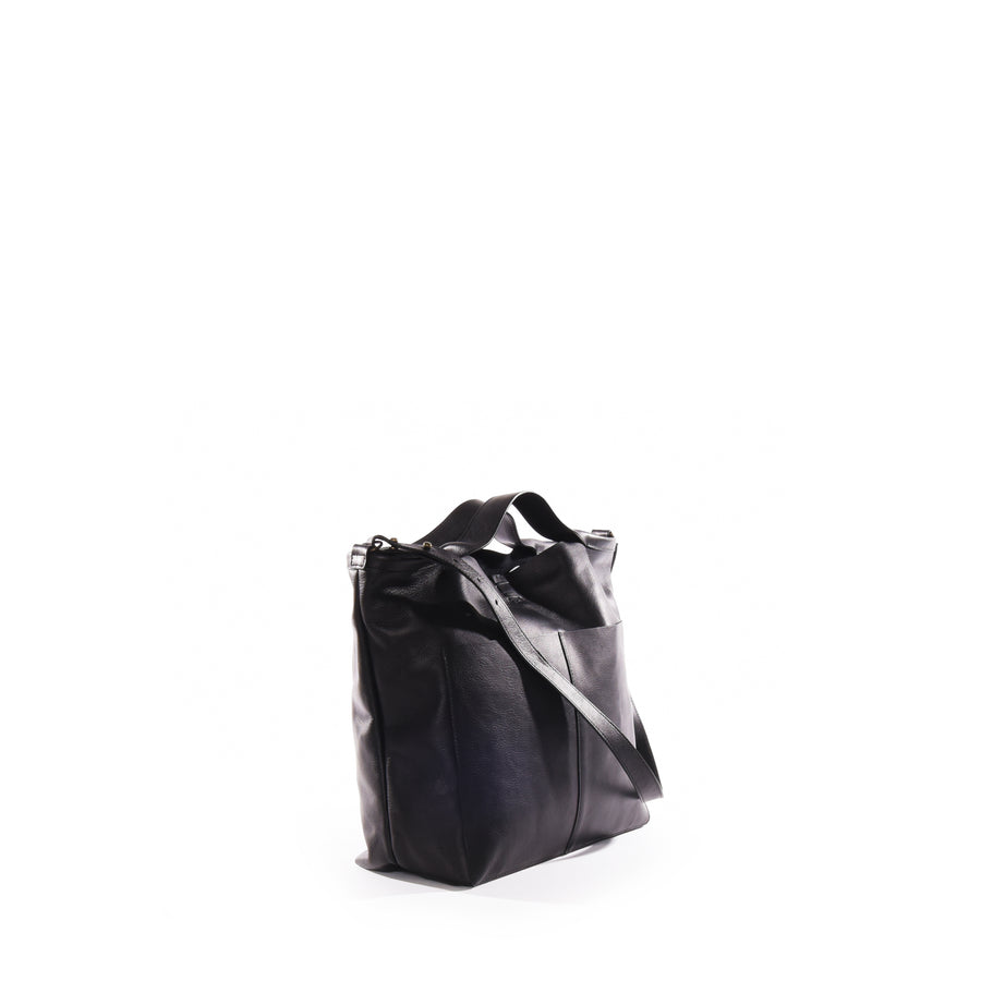 Jo Medium Shopper Tote in Black