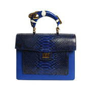 Krenoir Python Large Kandie in Cobalt Fish