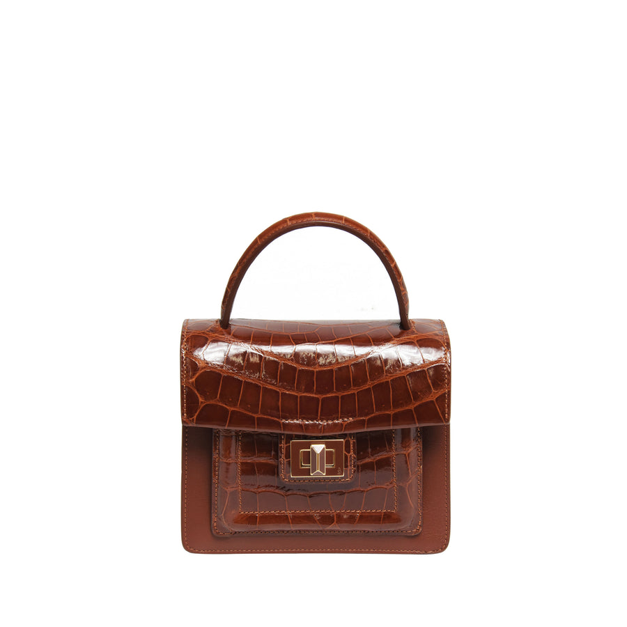 Krenoir Alligator Mini Kandie in Cognac