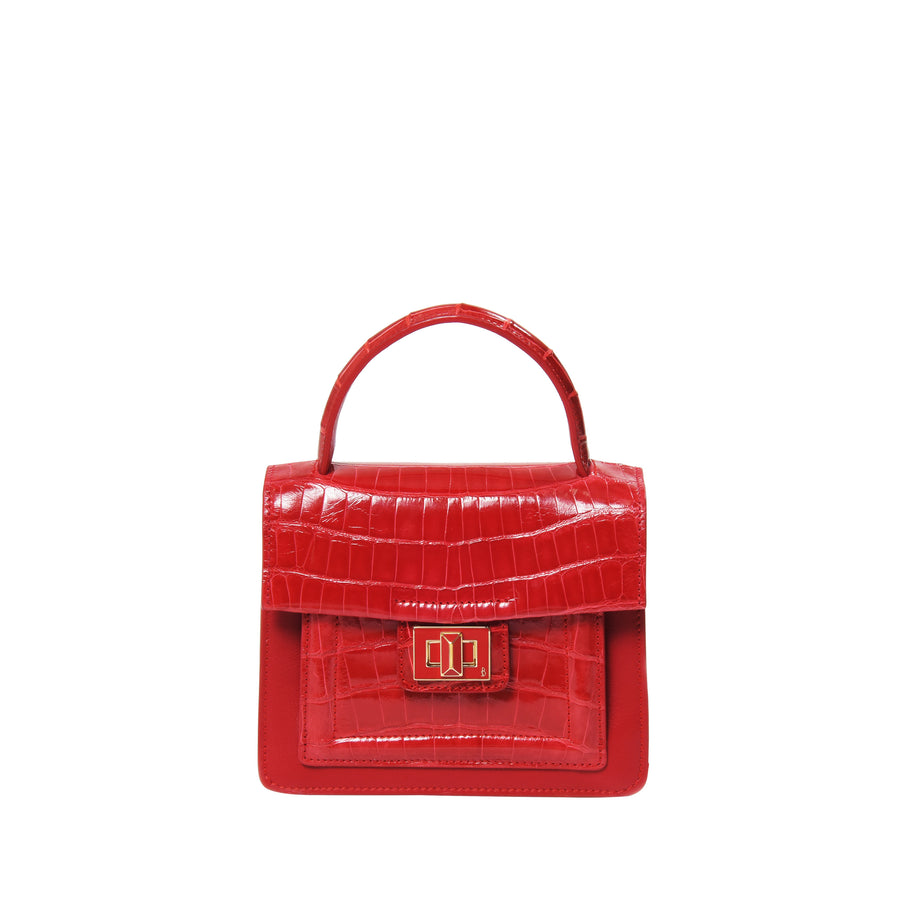 Krenoir Alligator Mini Kandie in Lipstick Red