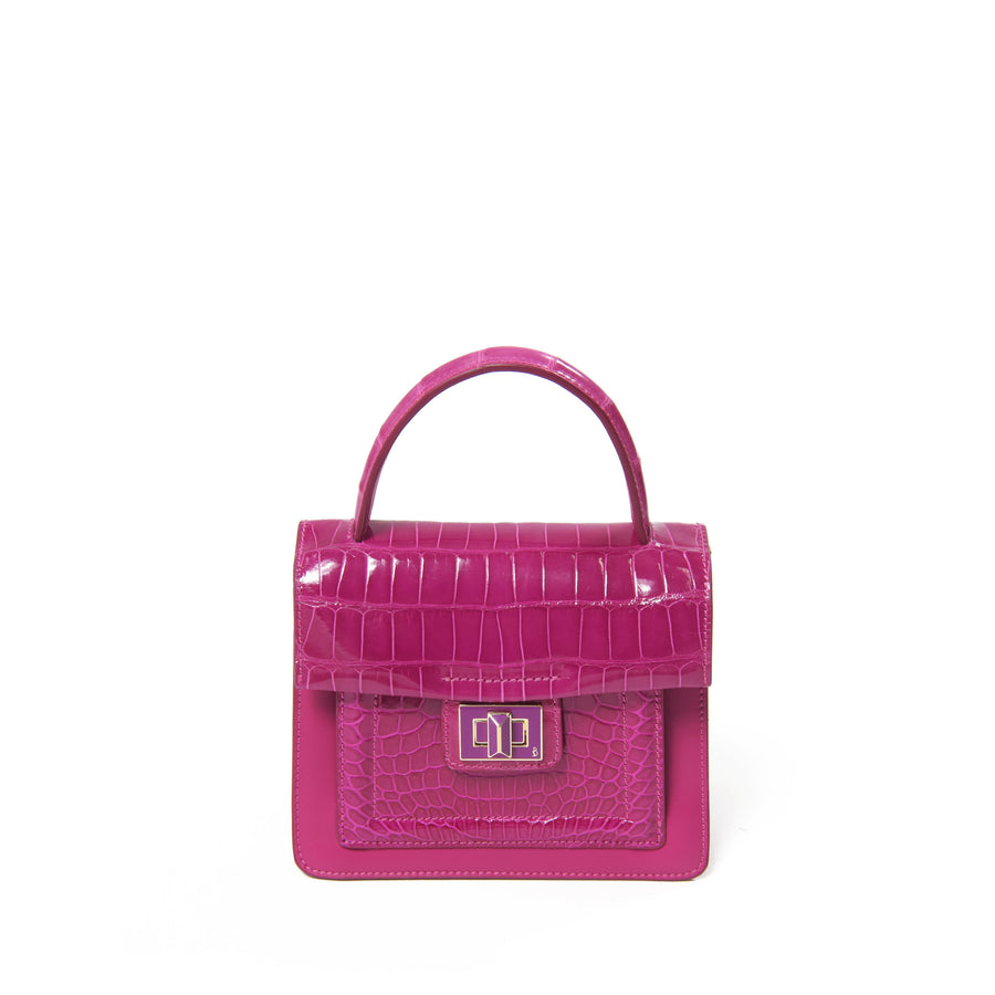 Krenoir Alligator Mini Kandie in Fuchsia