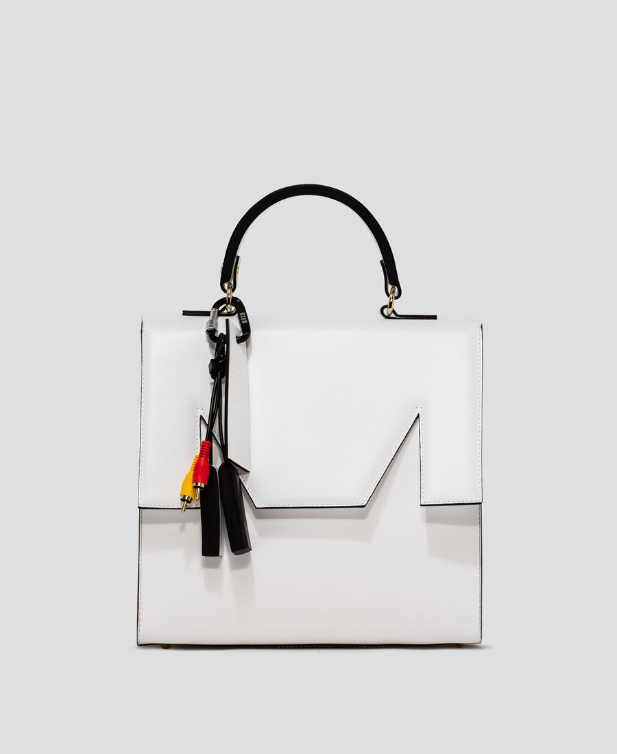 MSGM Large M Bag in White