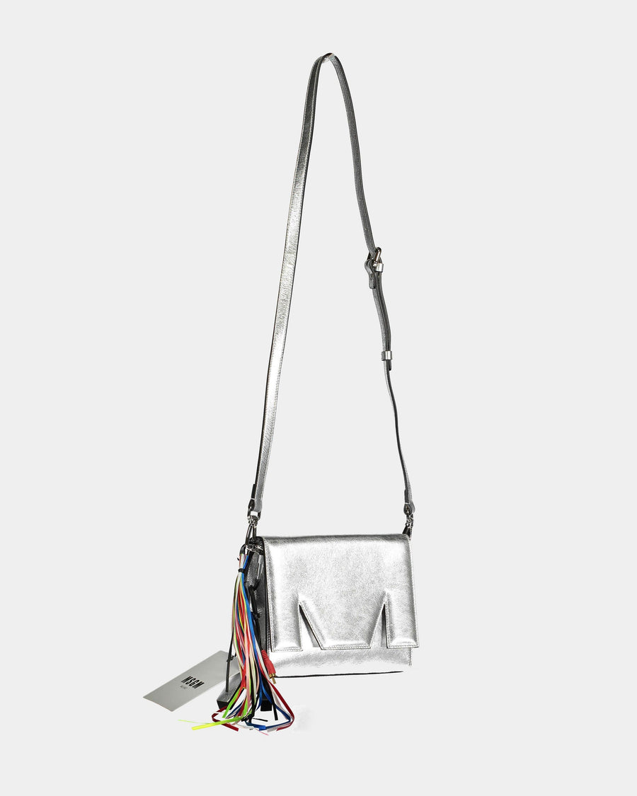 MSGM Clutch-Crossbody in Silver