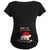 BABY'S FIRST CHRISTMAS ON THE INSIDE - BLACK MATERNITY T-SHIRT