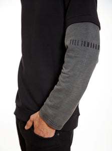 Sweater Sleeve Till Tomorrow/Black and Grey