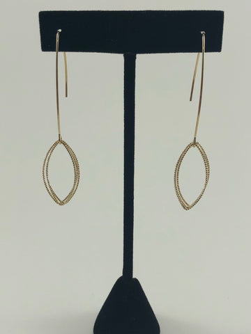 Multi Oval Dangle Earrings Gold