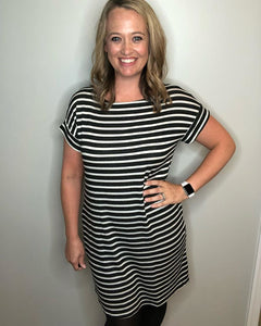 Black and White Tunic Dress