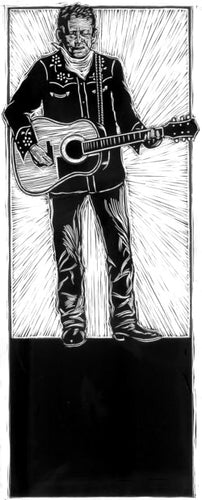 Joe Ely • Original Scratchboard Art