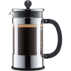 French Press Chrome Coffee Maker