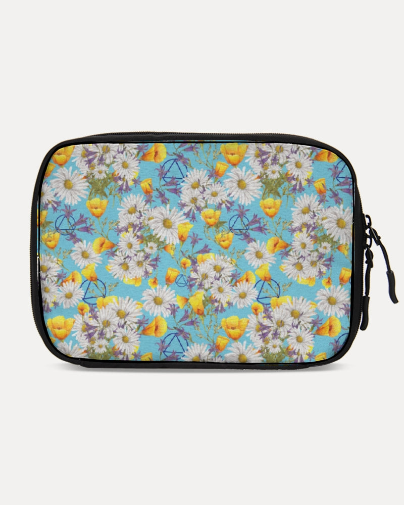 Yellow & White Floral AA Logo Large Travel Organizer