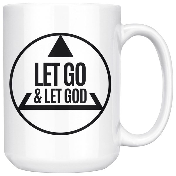 Let Go and Let God Recovery Mug