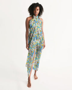 Yellow & White Floral AA Logo Swim Cover Up