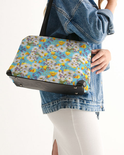 Yellow & White Floral AA Logo Shoulder Bag