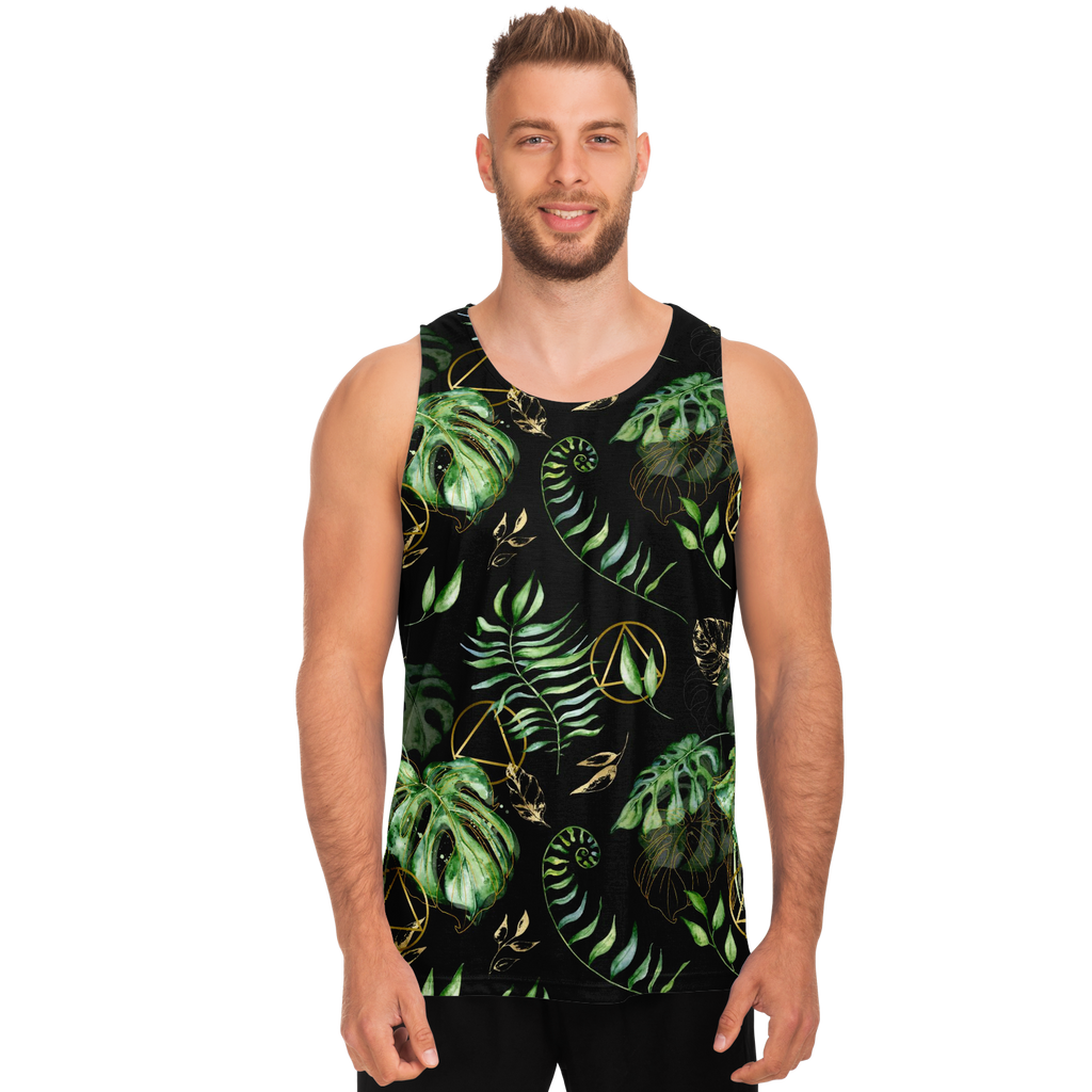 AA Logo Tropical Pattern - Tank Top