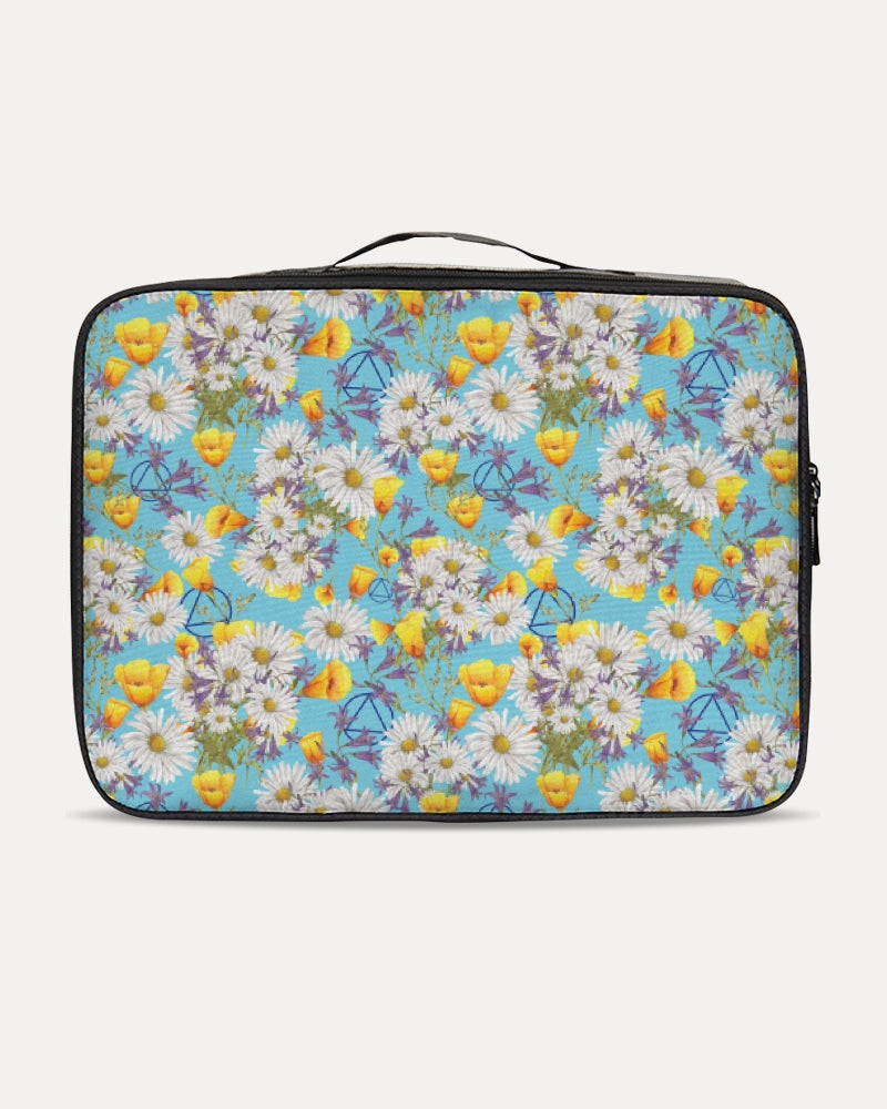 Yellow & White Floral AA Logo Jetsetter Travel Case