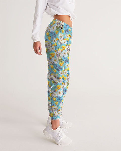 Yellow & White Floral AA Logo Women's Track Pants