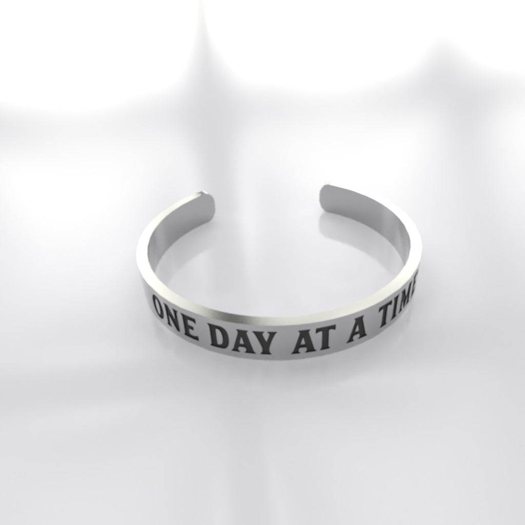 One Day at a Time Sterling Silver Stackable Ring