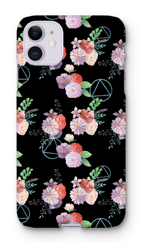 Floral Print with AA Logo Phone Case