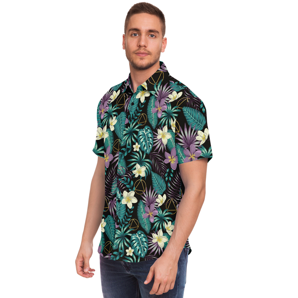 AA Logo Tropical Pattern - Button Down Shirt