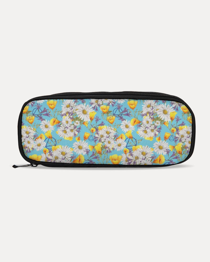 Yellow & White Floral AA Logo Pencil Case