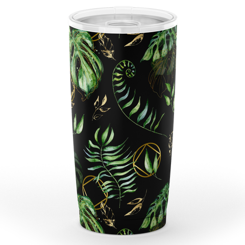 NA Logo Tropical Pattern - Stainless Steel Tumbler