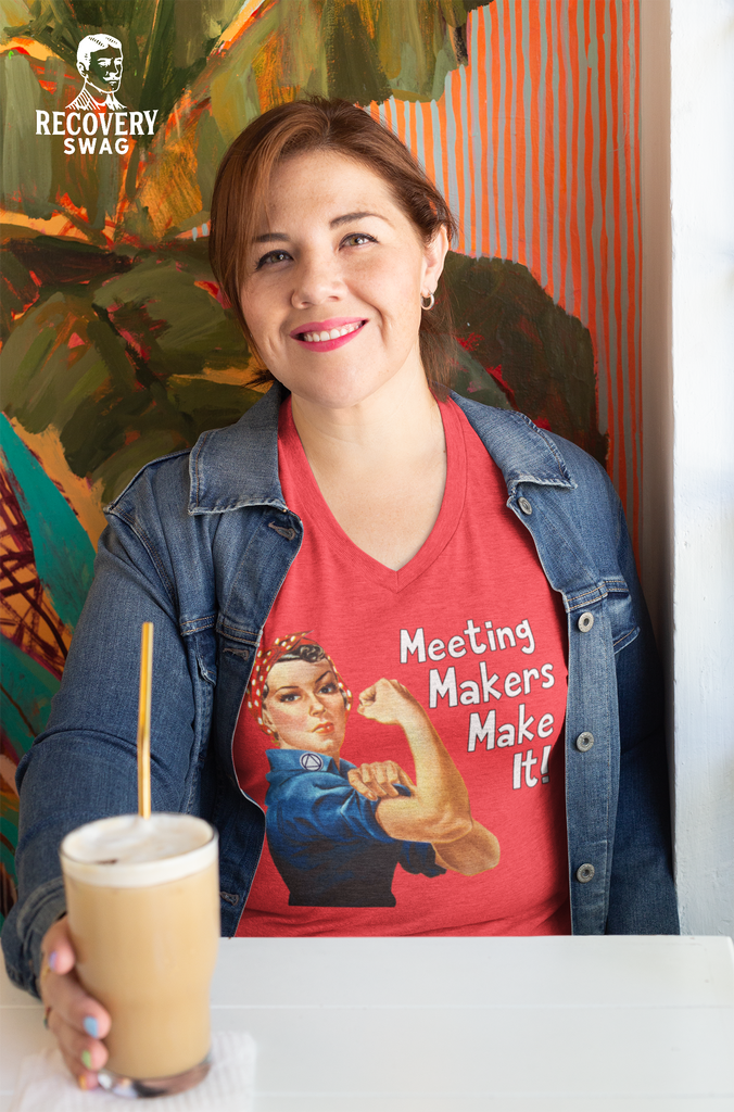 Rosie Meeting Makers Make It - Tri-Blend V-Neck T-Shirt