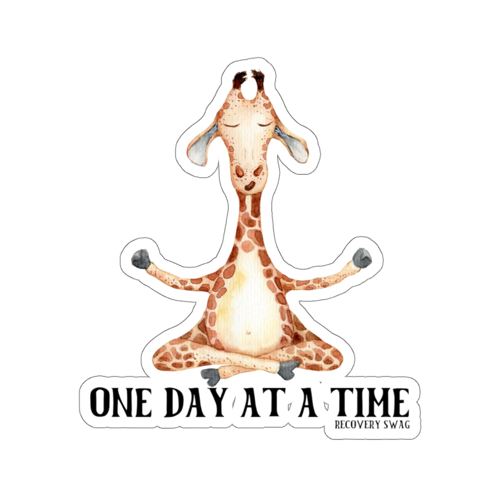 One Day at a Time Giraffe Sticker