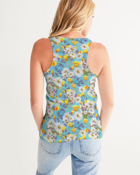 Yellow & White Floral AA Logo Women's Tank