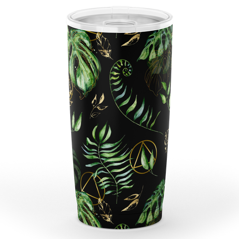 AA Logo Tropical Pattern - Stainless Steel Tumbler