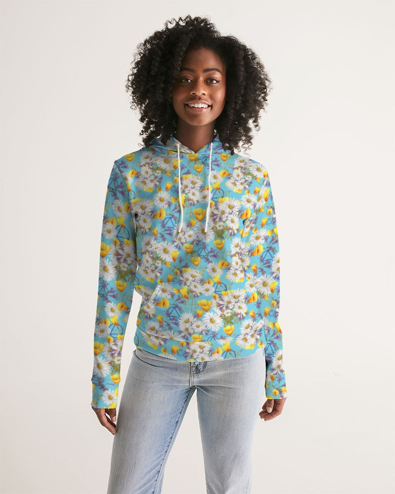 Yellow & White Floral AA Logo Women's Hoodie