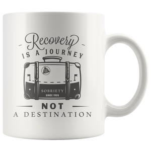Recovery is a Journey Mug