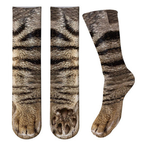 Flurry 3D Animal Paw Socks-[ONE SIZE FITS ALL【BUY MORE SAVE MORE】