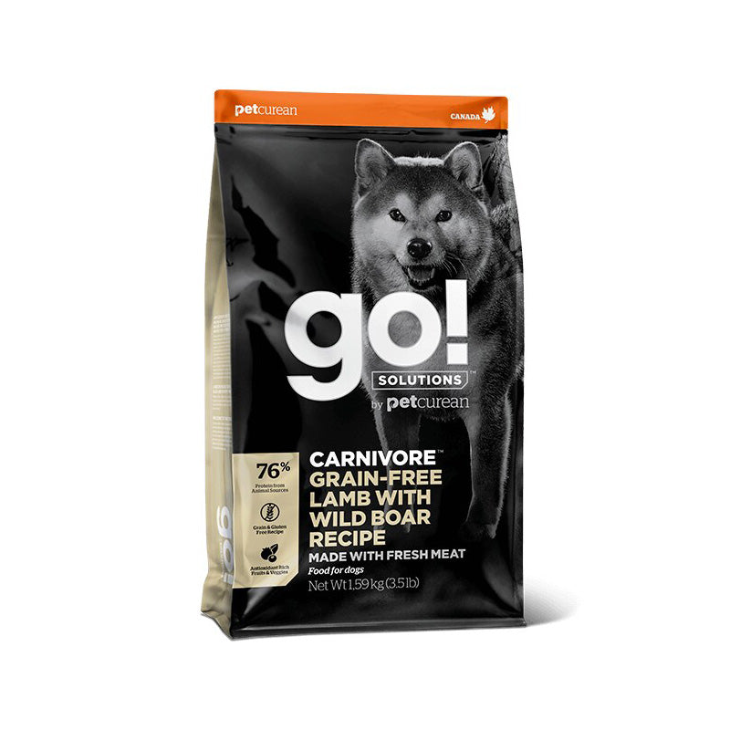 Petcurean - GO! Solutions Carnivore Lamb & Wild Boar | Tasty Dog Food