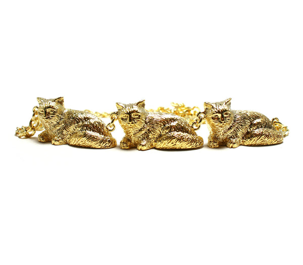 Gold Cat Parade Necklace